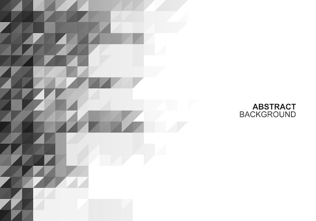 Triângulos abstratos padrão de fundo de banner ilustração vetorial