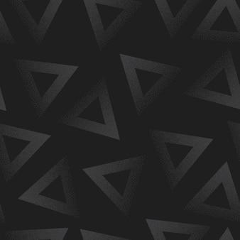 Triângulos abstratos pontilhados sem costura padrão