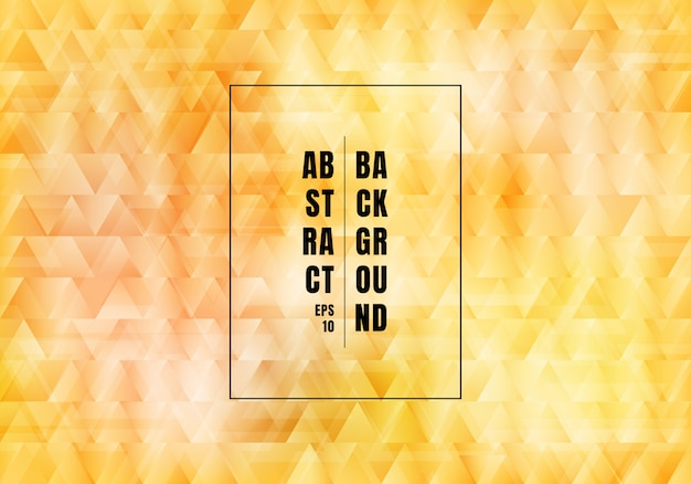 Triângulos amarelos abstratos de fundo