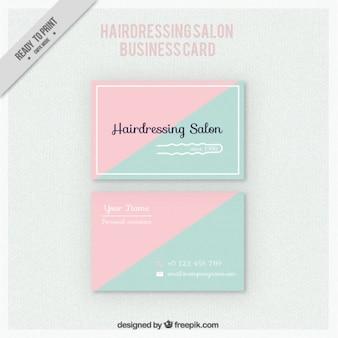 Triângulos cabeleireiro cartão de salão de beleza