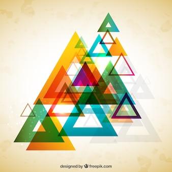 Triângulos coloridos fundo