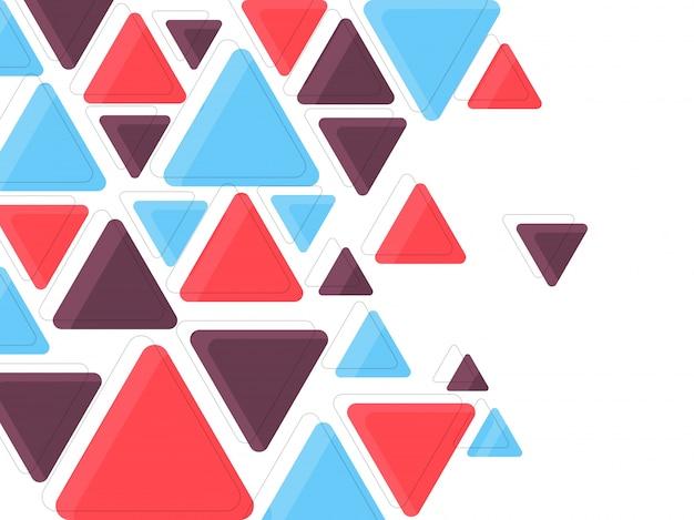 Triângulos coloridos planos, fundo abstrato para folheto, folheto ou design de apresentações, ilustração vetorial.