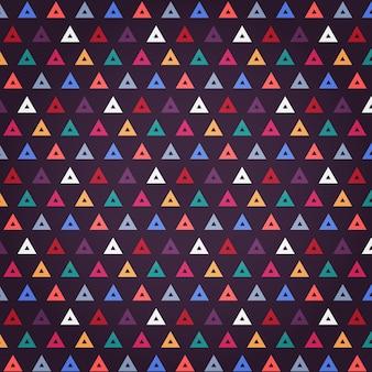 Triângulos de design padrão colorido sem costura