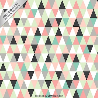 Triângulos fundo em tons pastel