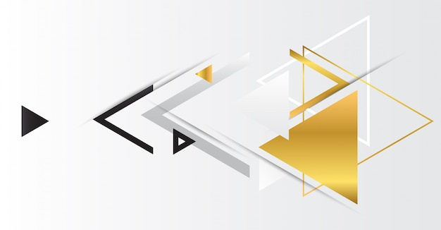 Triângulos geométricos abstratos ouro.