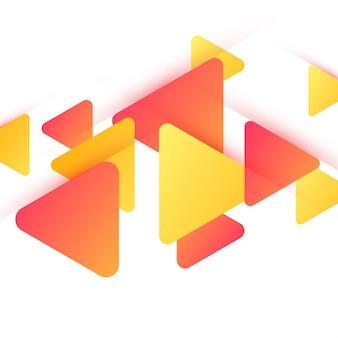 Triângulos lustrosos, fundo abstrato para folheto, folheto ou design de apresentações, ilustração vetorial.