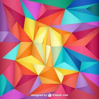 Triângulos molde do fundo