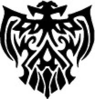 Tribal águia decorativos ícone do vetor