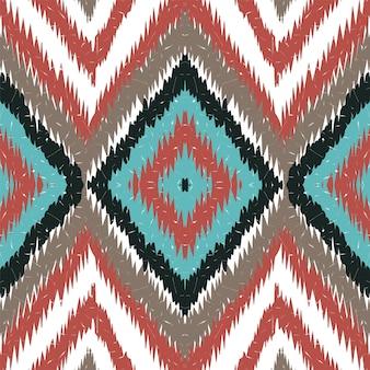 Tribal elegante marinho. cornflower batik vector padrão sem emenda