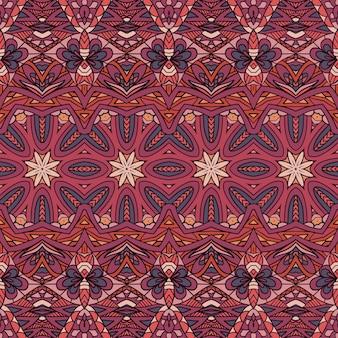 Tribal étnico com impressão em cores naturais e design vintage estilo nômade boêmio