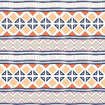 Tribal padrão sem emenda com étnico colorido geométrico
