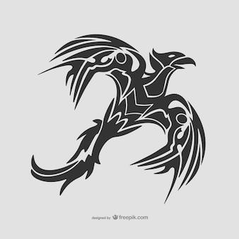Tribal tatuagem ave voadora