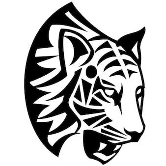 Tribal tigre rosto ilustração vetorial