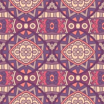 Tribal vintage abstrato floral geométrico étnico sem costura padrão ornamental