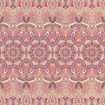 Tribal vintage abstrato geométrico étnico padrão sem emenda ornamental. design têxtil de bares indianos