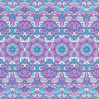 Tribal vintage abstrato geométrico vetorial padrão étnico sem costura ornamental