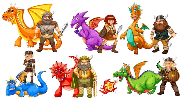 Tribos vikingas e muitos dragões