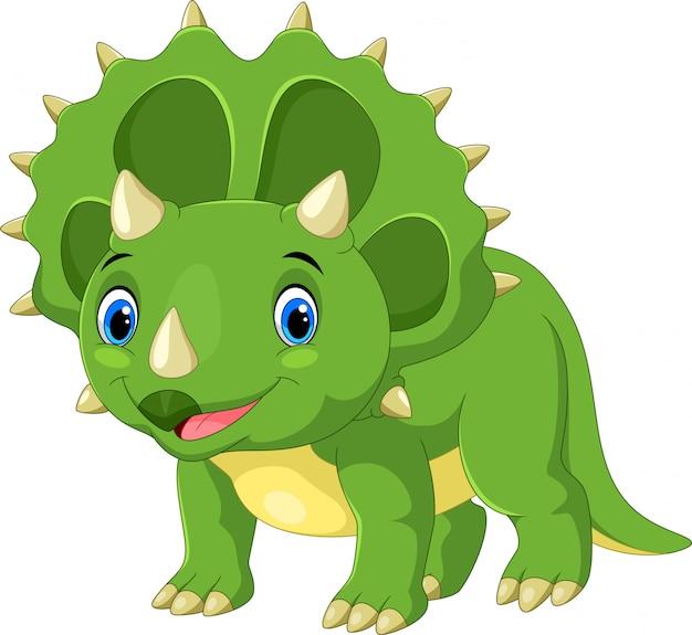 Triceratops bonito dos desenhos animados