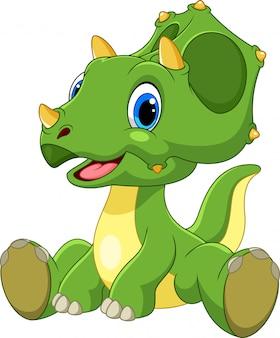 Triceratops de bebê fofo dos desenhos animados