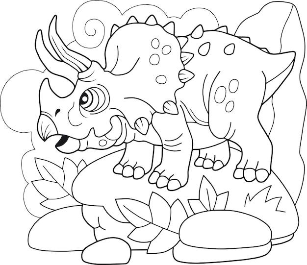 Triceratops de dinossauro fofo