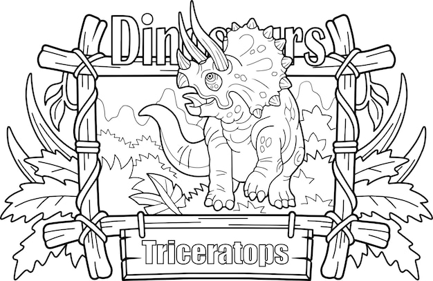 Triceratops de dinossauro