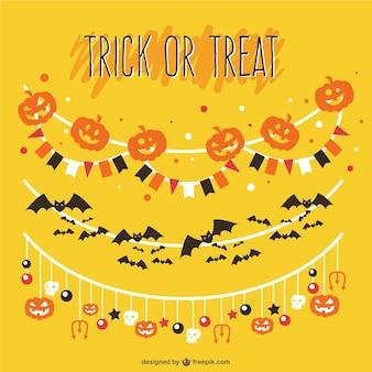 Trick or treat guirlandas vector