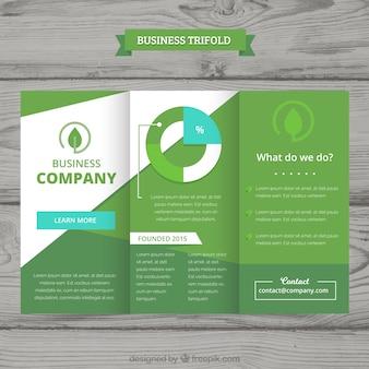 Trifold de negócios em estilo plano