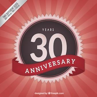 Trigésimo aniversário fundo do vintage