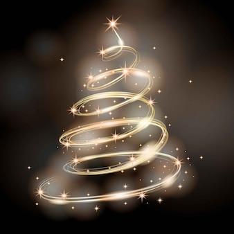 Trilha de luz conceito de árvore de natal