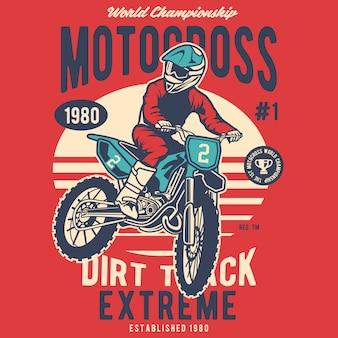 Trilha de sujeira extrema do motocross