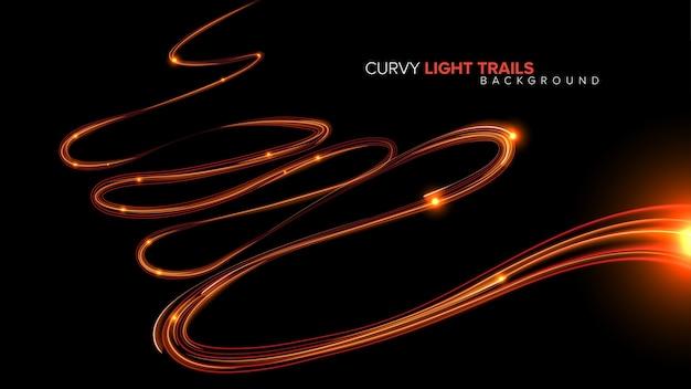 Trilhas de luz abstrata curvy