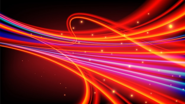 Trilhas de luz abstrata em vetor