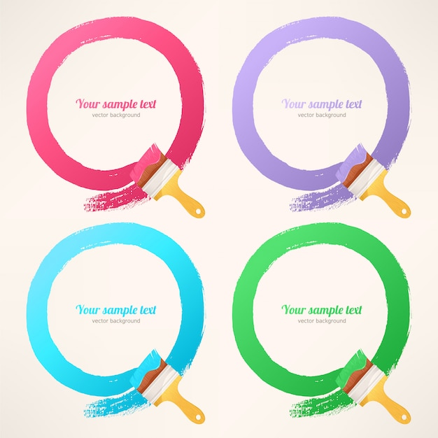 Trilhas redondas coloridas