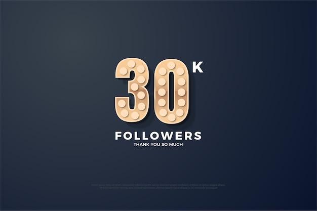 Trinta mil seguidores com uma figura tridimensional que se iluminou como uma luz redonda