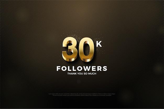 Trinta mil seguidores dourados