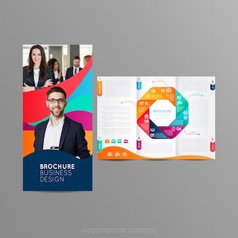 Tríptico de design para o seu negócio