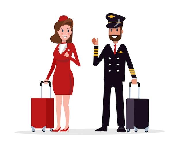 Tripulação de voo de avião