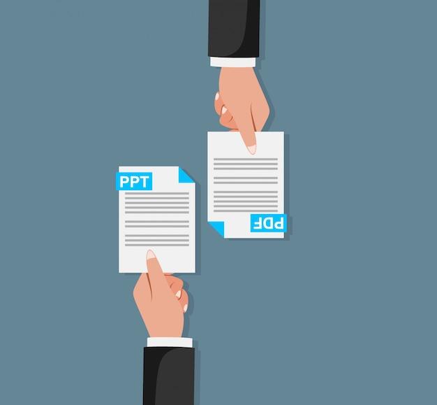 Trocar documentos em pdf