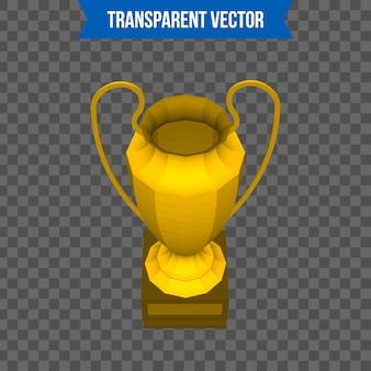 Troféu copa isométrica estilo 3d modelo.