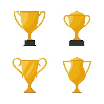 Troféu da taça de ouro, copo de ouro de prêmio.