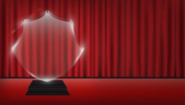Troféu de acrílico transparente 3d real