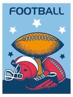 Troféu de capacete de bola de futebol americano