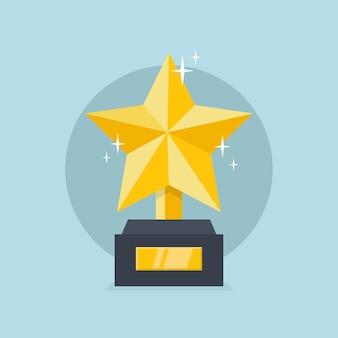 Troféu de estrela dourada