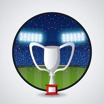 Troféu de futebol americano