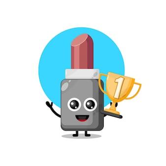 Troféu mascote personagem fofa de batom