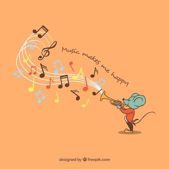 Trombeta tocando trombeta