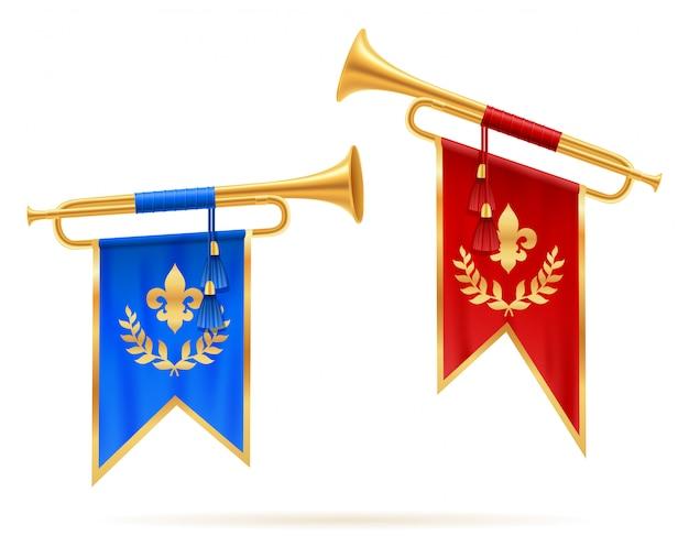Trompete real do chifre dourado do rei.