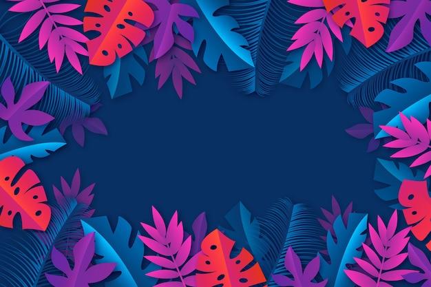 Tropical flowers / leaves - fundo para o zoom