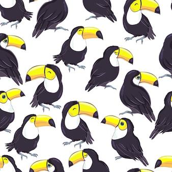 Tropical padrão sem emenda com tucanos