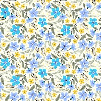Tropical sem costura padrão floral com flores coloridas brilhantes e folhas em um fundo branco.